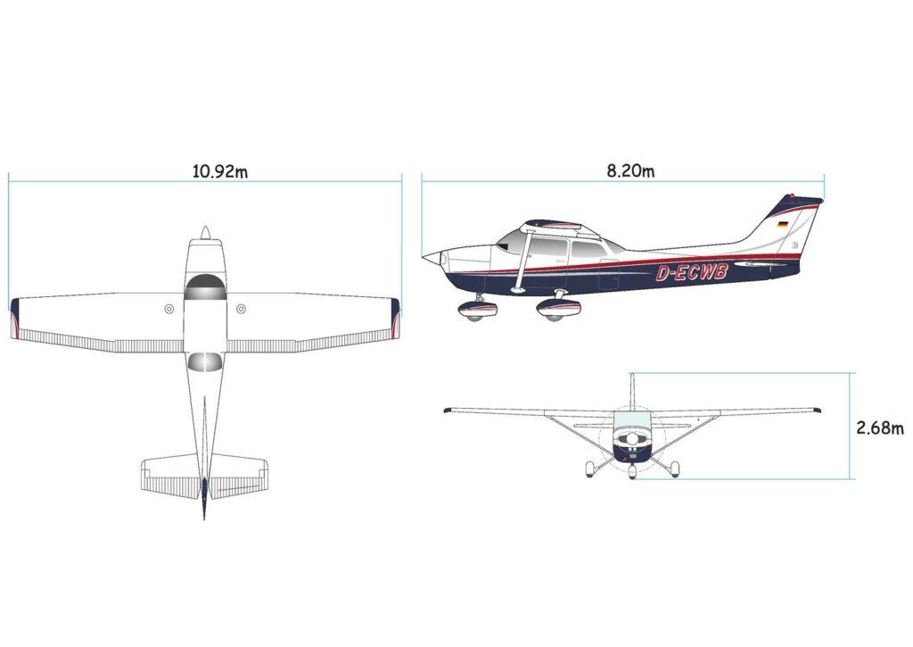 Cessna 172 3D-Ansicht
