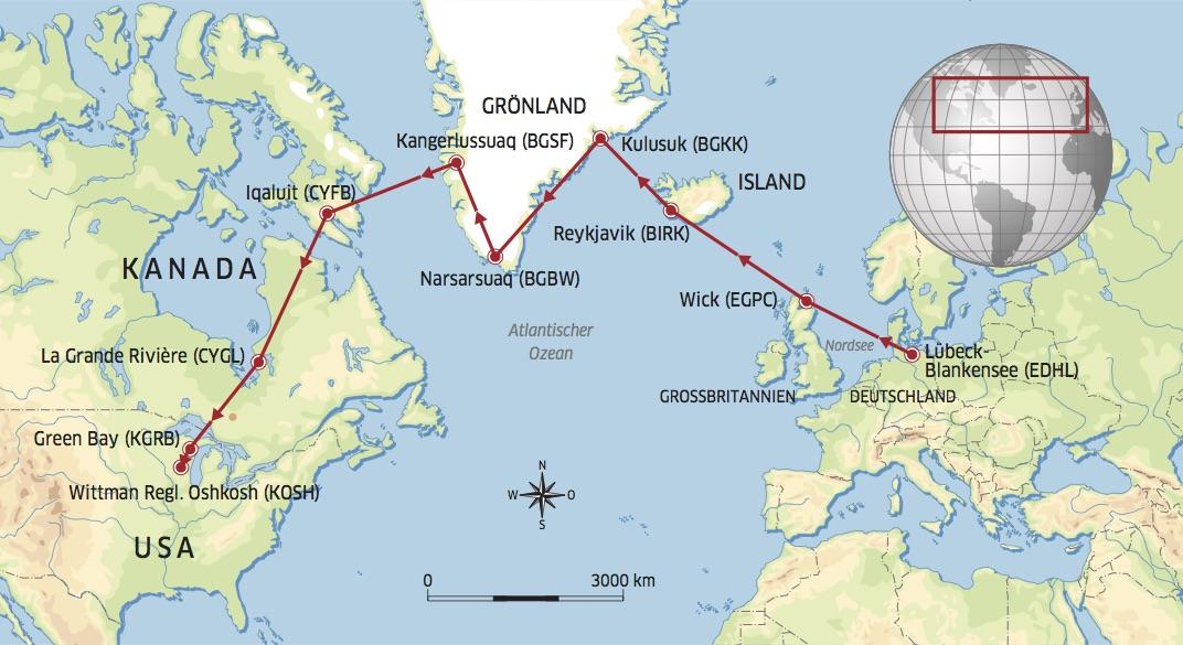 Das ist die geplante Route