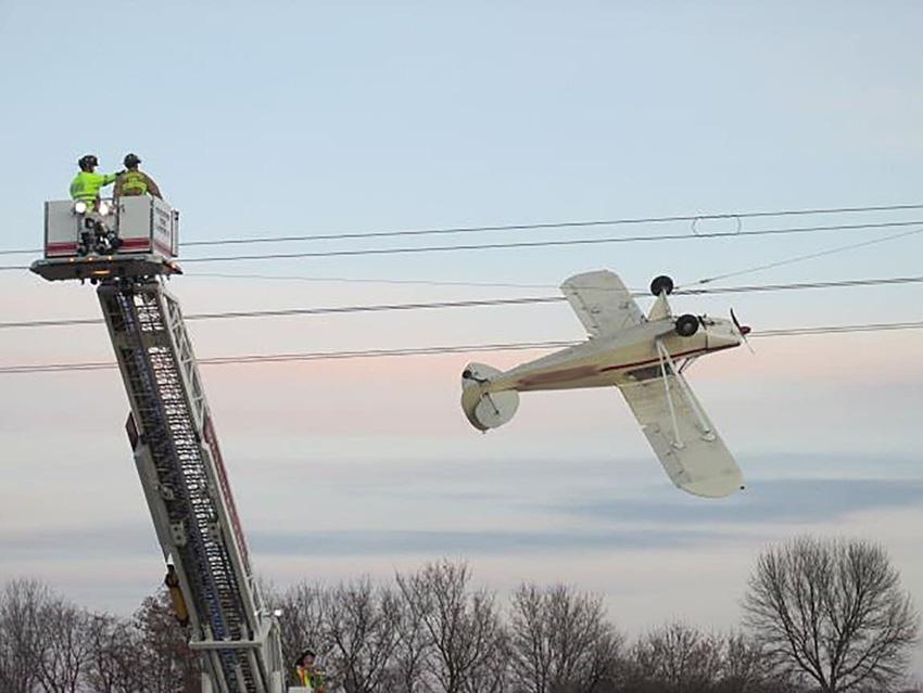 Glück gehabt: Der Pilot blieb unverletzt