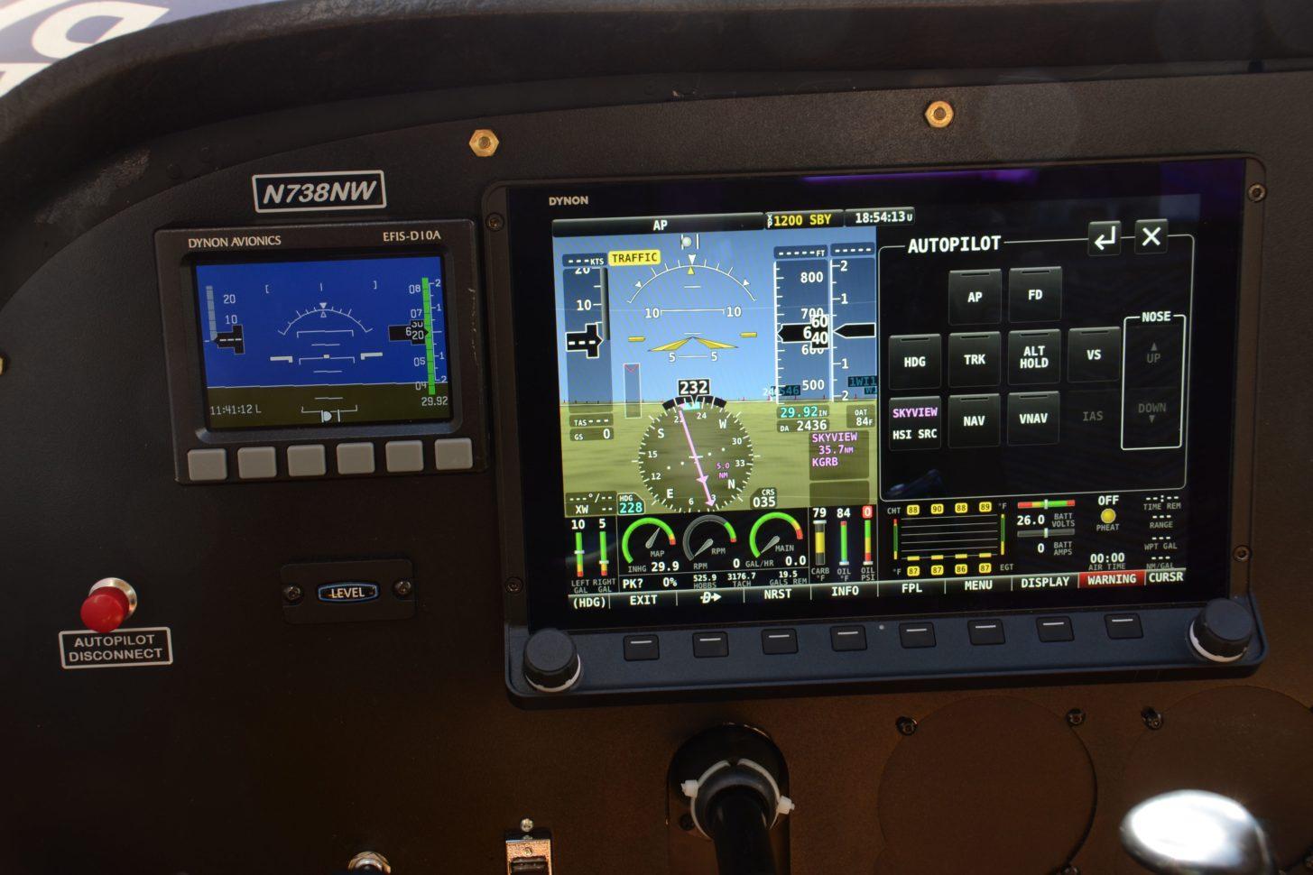 Das Skyview HDX in der Cessna 172