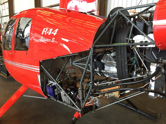 Das steckt drin: Blick unter die Cowling der elektrischen R44