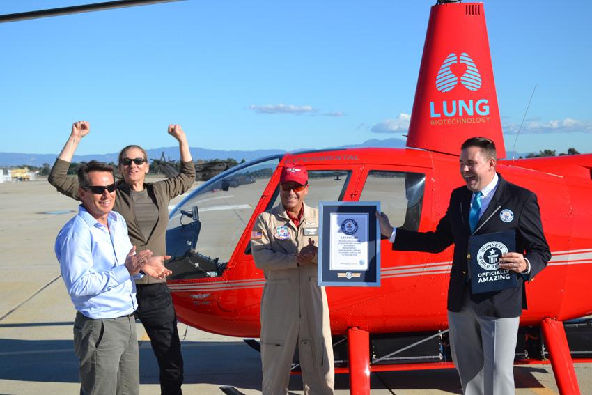 Rekord! Testpilot Ric Webb und das Tier-1-Team freuen sich