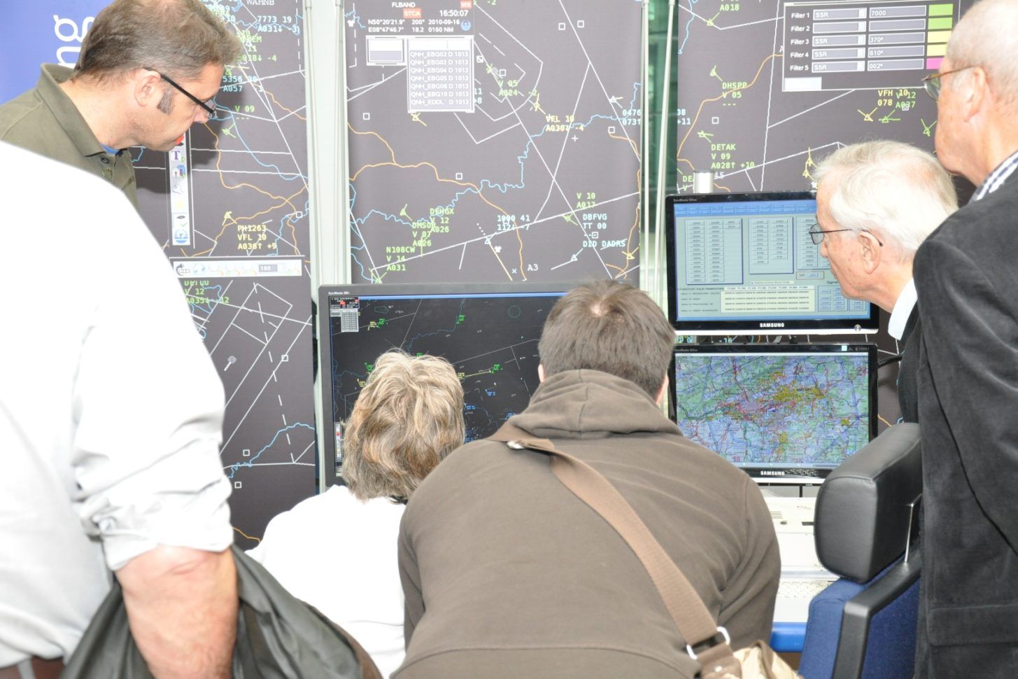 Gedränge um den FIS-Simulator beim Pilotentag