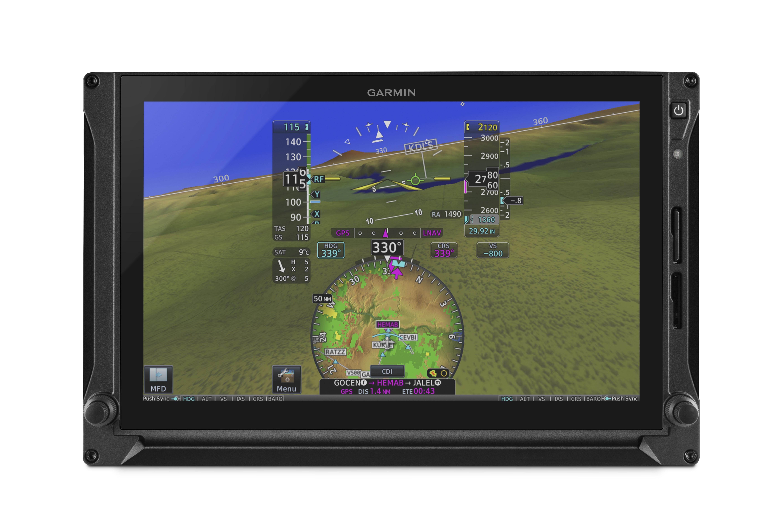 Das große 10,6-Zoll-Display des G500 TXi