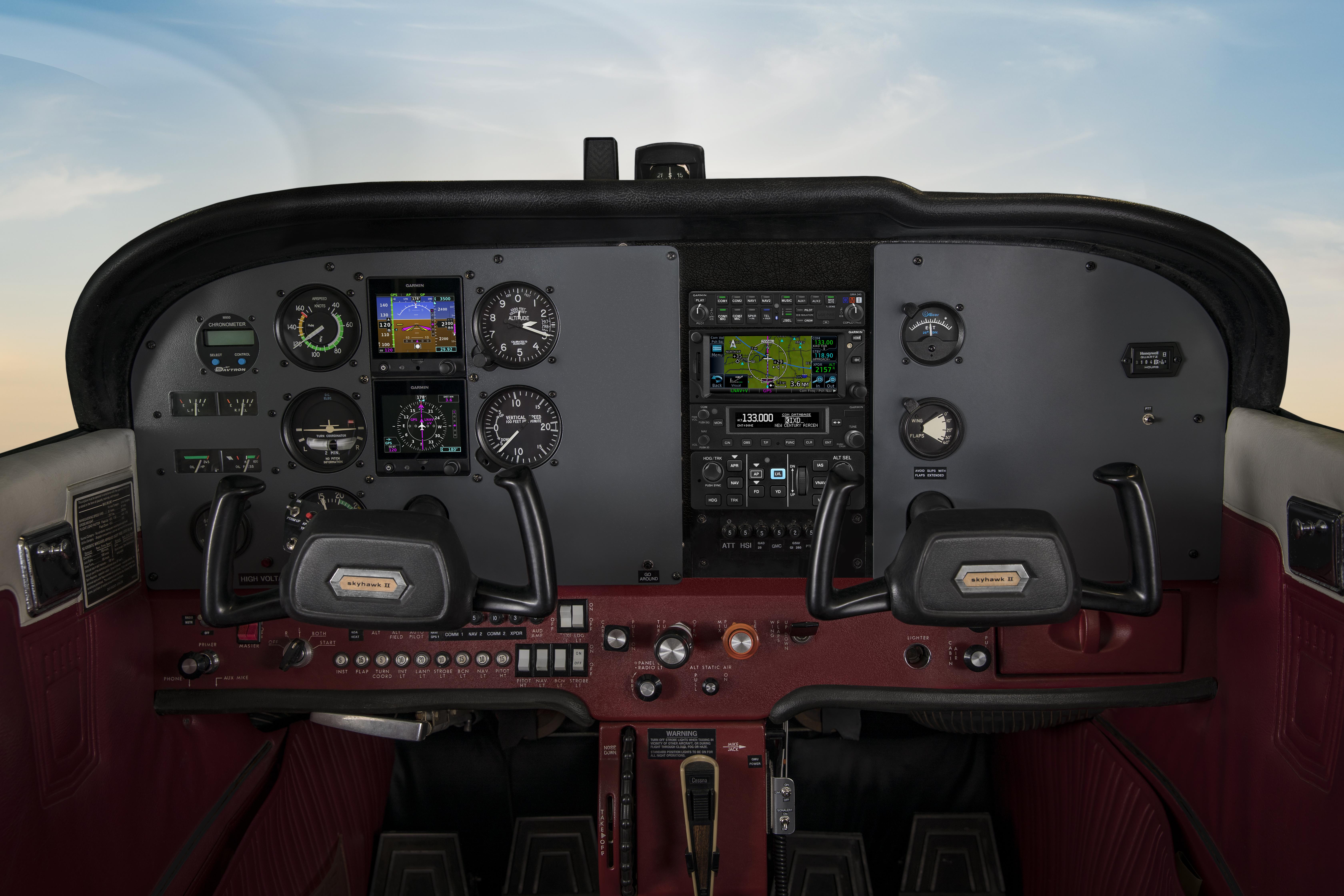 G5-Autopilot in einer Cessna 172