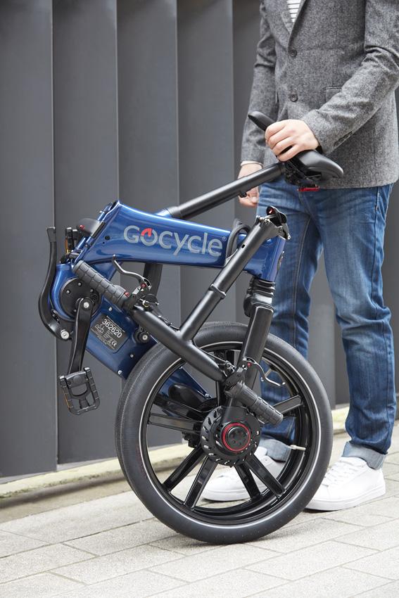 Klappt fix: In zehn Sekunden ist das Gocycle GX gefaltet