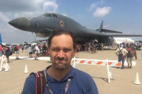 Der Überschallbomber Rockwell B-1Lancer ist einer der Stars in Oshkosh