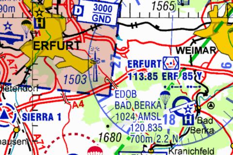 Luftraum Echo am Erfurt VOR