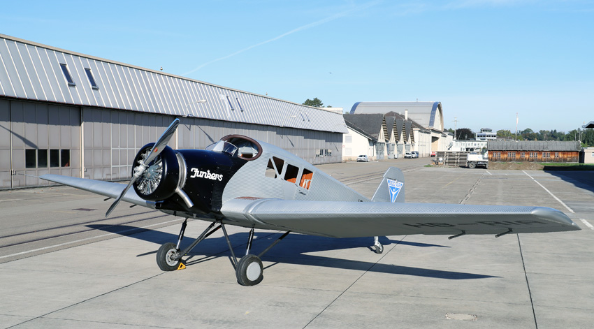 Klassiker: Junkers F 13, neu aufgelegt von der Junkers Flugzeugwerke AG in Dübendorf, Schweiz