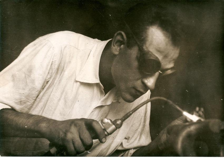 Bei der Arbeit: Luigi Pascale in jungen Jahren