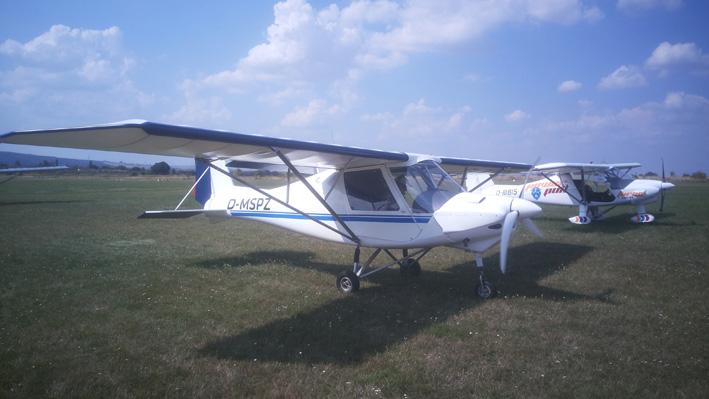 Erprobungsträger: umgerüstete C42 vom Aero-Club Gotha