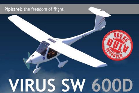Mit 600 Kilo: Virus SW 600D von Pipistrel