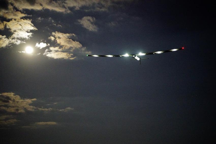 Abgehoben: Das elektrische Rekordflugzeug nach dem Start in New York am 20. Juni