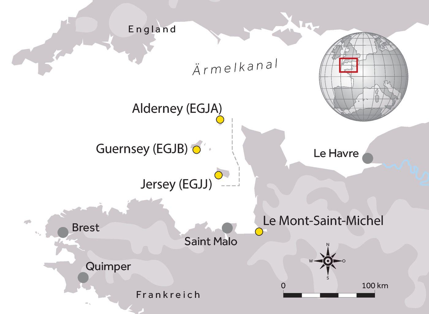 Jersey, Guernsey und Alderney sind die Ziele der Reise