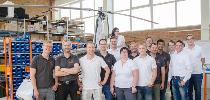 Teamarbeit: Gefertigt wird der Rotorvox C2A in Obermehler in Thüringen