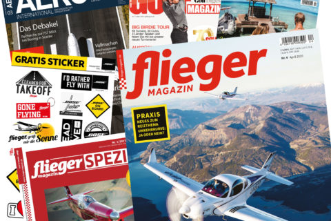 Das aktuelle fliegermagazin mit Extras im Care-Paket