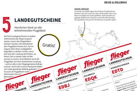 fliegermagazin-Landegutscheine: Kostenlos landen!