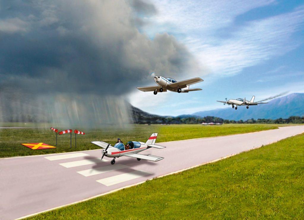 Notfall Turbine Flugzeug