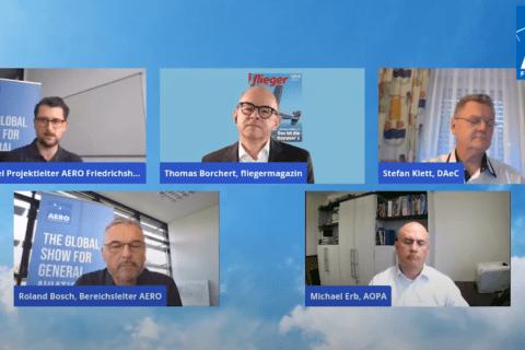 Video-Diskussion zur AERO 2021 in Friedrichshafen