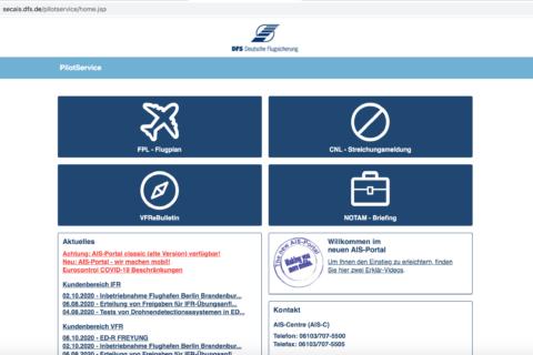 AIS-Portal für Mobilgeräte optimiert