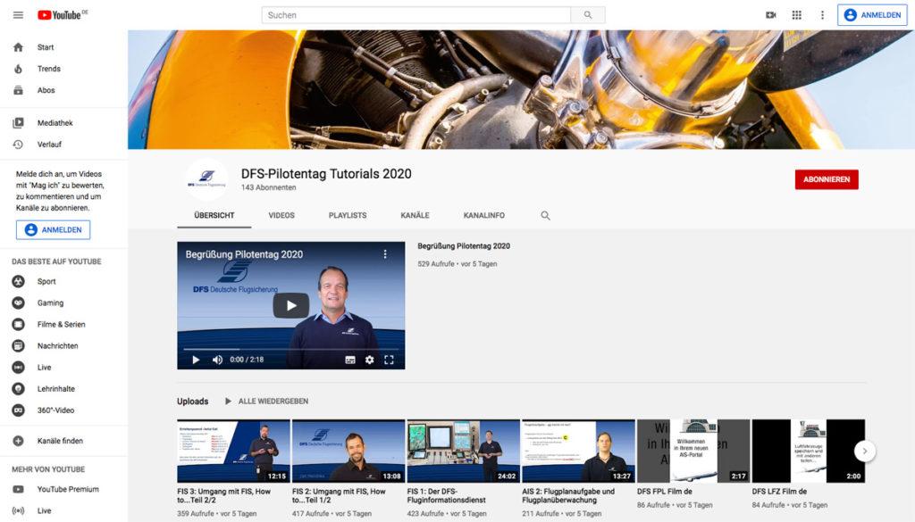 DFS Deutsche Flugsicherung DFS-Pilotentag 2020 online