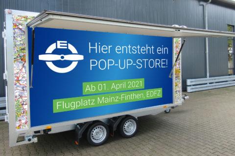 Pop-up-Store von Eisenschmidt auf dem Flugplatz Mainz