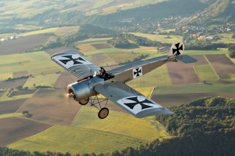 UL Fokker in der Luft