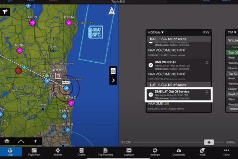 Navigations-App Garmin Pilot 10.4 mit neuen Features