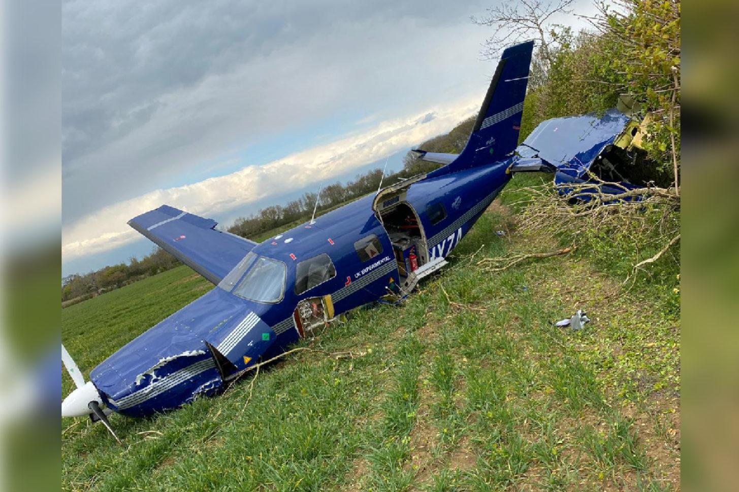 Piper mit Brennstoffzelle: Crash bei Notlandung