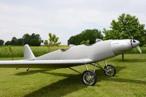 Neues Retro-UL Junkers A50 Junior im Wellblech-Design
