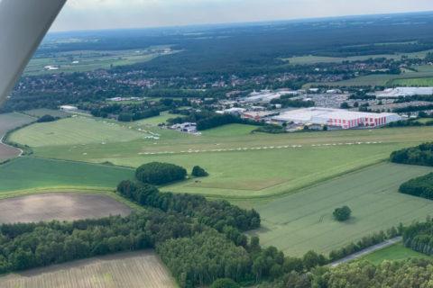 Fliugplatz Hodenhagen aus der Luft