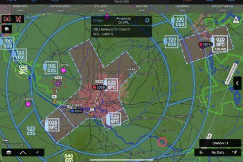 Garmin Pilot jetzt mit ICAO-Luftraumfarben