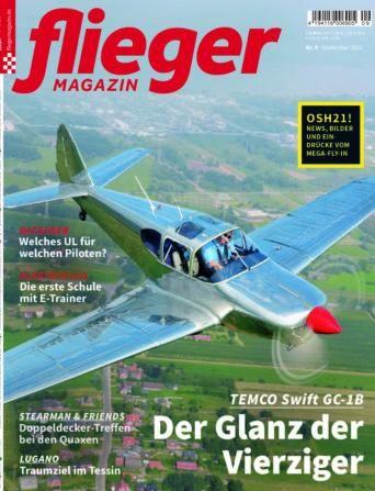 fliegermagazin Titel Ausgabe September 2021
