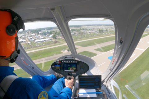 Flugtaxi Volocopter beim EAA AirVenture 2021 in Oshkosh